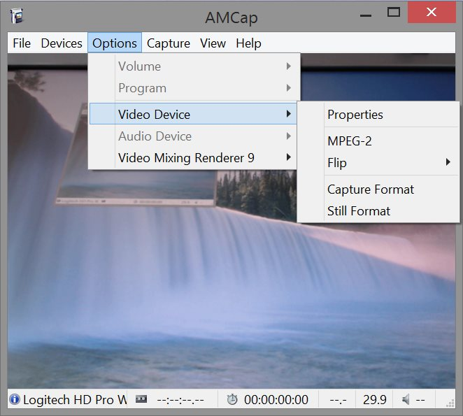 AMCap 9.23 Screen shot