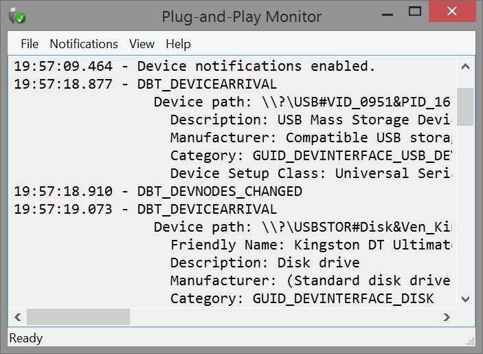 Plug-and-Play Monitor Screen Shot