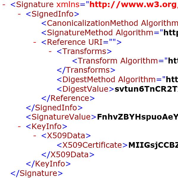 SignXML Screen Shot