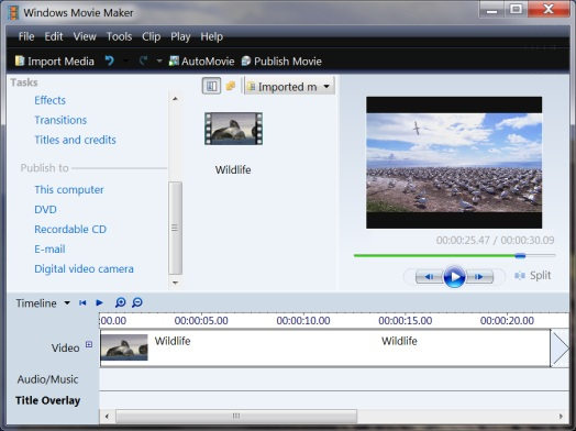 Windows Movie Maker Installer for Windows 7 Screen Shot